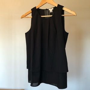 J. Crew Sleeveless Crew Neck Black Top sz 0 NWT